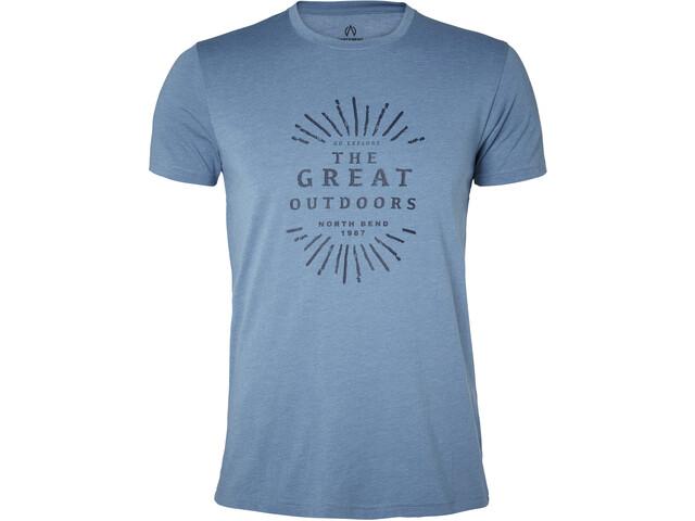 North Bend Vertical T-shirt Herrer, blue bay